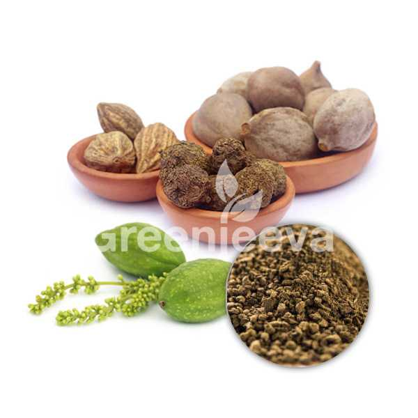 Organic Triphala Extract Powder 40%  Tannins Titrimetry